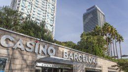 Eingang eines Spielcasinos in Barcelona