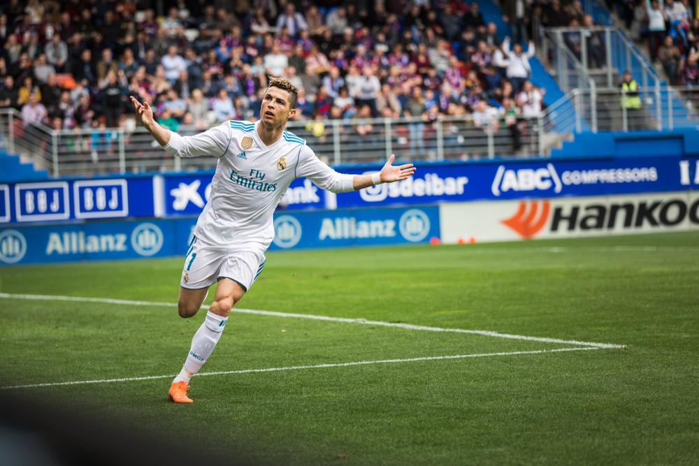 Real Madrid-Spieler Ronaldo in einem Spiel zwischen Eibar und Real Madrid