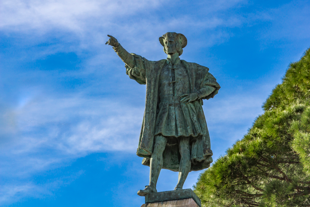 Denkmal von Christoph Kolumbus in Italien