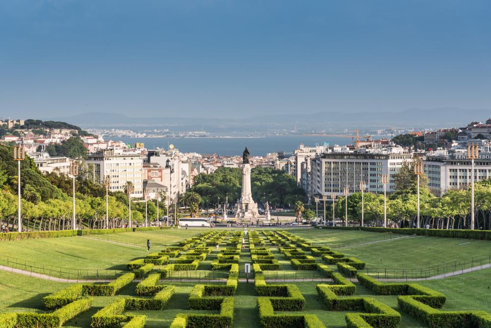 Aussicht über den Parque Eduardo VII in Lissabon