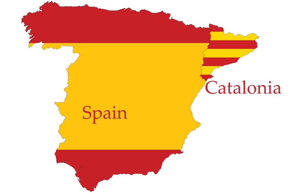 Katalonien in Nordspanien mit eigener Flagge