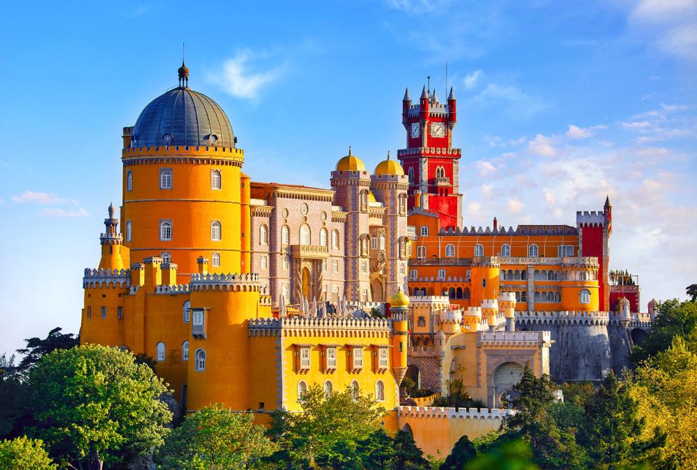 Romantischer Pena-Palast im portugiesischen Sintra