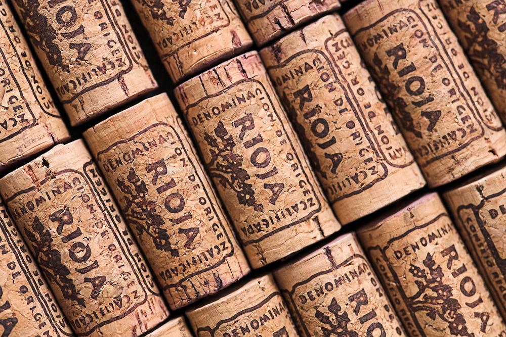 Weinkorken des spanischen Rioja
