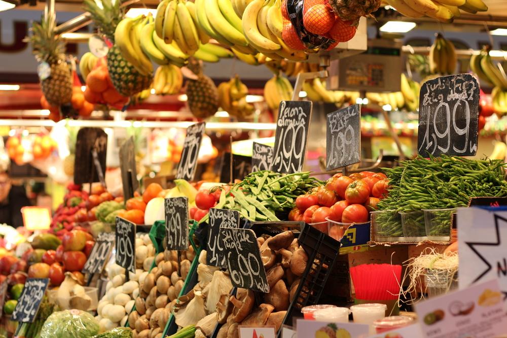 Mittelmeer-Kost frisch auf dem Markt