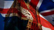 Die britische Union Jack Flagge und der Big Ben