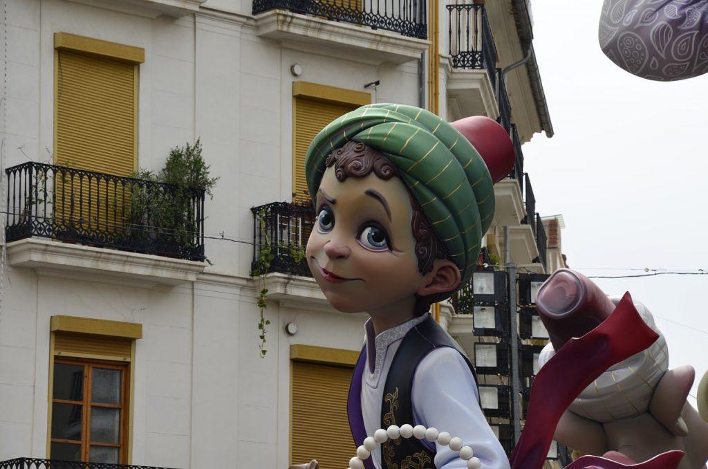 Kunstfigur aus Valencia