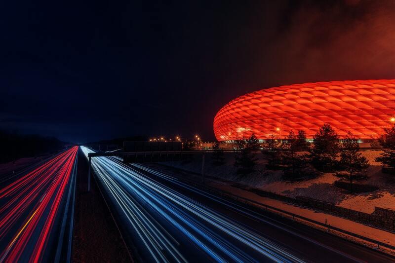 Allianz Arena Nachtansicht